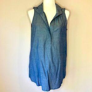 J. Crew cotton tunic chambray small sleeveless